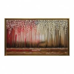 """Quadro per soggiorno moderno """"Sogno Rosso"""" 130x70  Art Maiora"""