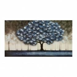 "Dipinto moderno a mano ""Incanto Blu"" 130x70 Art Maiora"