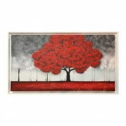 """Quadro per soggiorno con paesaggio moderno """"Incanto Rosso"""" 130x70  Art Maiora"""