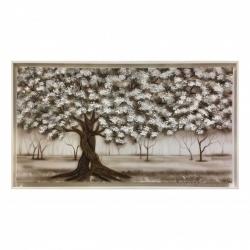 "Quadro moderno dipinto su tela ""Intreccio Bianco"" 130x70 Art Maiora"