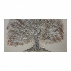 """Quadro dipinto su tela """"Quercia Bianca"""" 130x65 Art Maiora"""