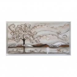 """Quadro con paesaggio e alberi """"Volo"""" 130x65 Art Maiora"""