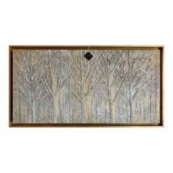 """Quadro dipinto a mano con paesaggio """"Foresta Intrecciata"""" 120x80 Art Maiora"""