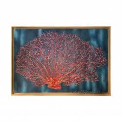 "Quadro moderno dipinto a mano su tela ""Corallo"" 120x80 Art Maiora"