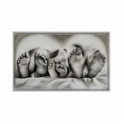 "Capezzale moderno dipinto a mano su tela ""Meraviglia"" 110x65 Art Maiora"