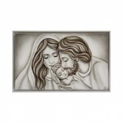 """Capezzale moderno dipinto a mano su tela """"nido d'Amore"""" 110x65 Art Maiora"""