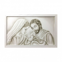 "Capezzale moderno consacra famiglia dipinto a mano su tela ""Unione"" 110x65 Art Maiora"