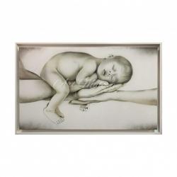 """Capezzale moderno dipinto a mano su tela """"Equilibrio"""" 110x65  Art Maiora"""