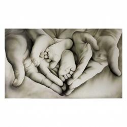 """Quadro camera da letto moderna """"Family Heart"""" 110x65 Art Maiora"""