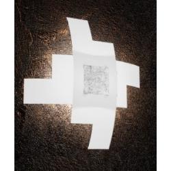 Plafoniera Tetris Color 1121/55 foglia argento Toplight