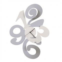 """Orologio """"Balgor"""" bianco e alluminio Arti e Mestieri"""