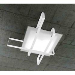 Plafoniera Cross 1106/100 bianco Toplight